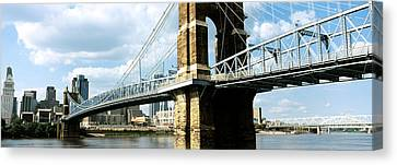 John A. Roebling Suspension Bridge Canvas Print by Panoramic Images