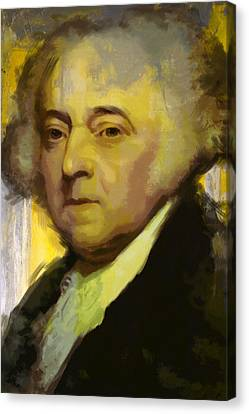 John Adams Canvas Print by Corporate Art Task Force