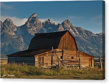 Canvas Print featuring the photograph John And Bartha Moulton Barn by Jeff Goulden