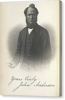 Abolitionist Canvas Print - John Anderson by British Library