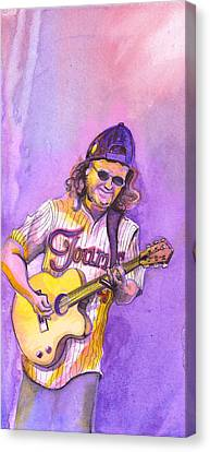 John Bell With Hat Canvas Print by David Sockrider