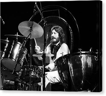 John Bonham 1977 Led Zeppelin Canvas Print by Chris Walter