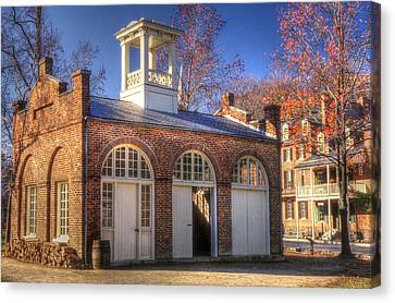 John Browns Fort - Harpers Ferry West Virginia - Modern Day Autumn Canvas Print by Michael Mazaika
