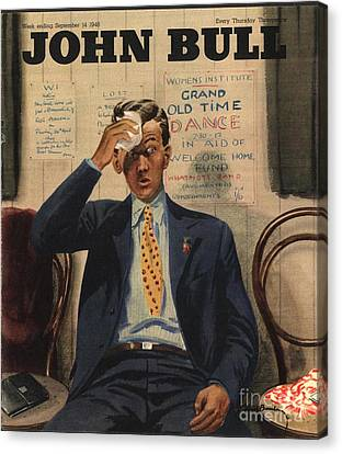 John Bull 1946 1940s Uk Tired Exhausted Canvas Print by The Advertising Archives