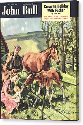 John Bull 1950 1950s Uk Horses Pets Canvas Print by The Advertising Archives