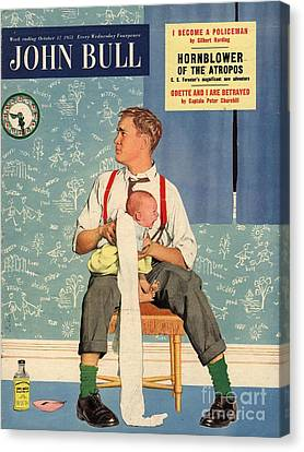 John Bull 1950s Uk Babies Fathers Canvas Print by The Advertising Archives