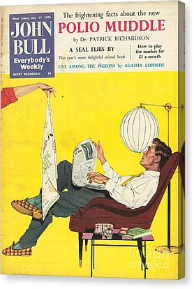 John Bull 1950s Uk Dish Washing Canvas Print by The Advertising Archives