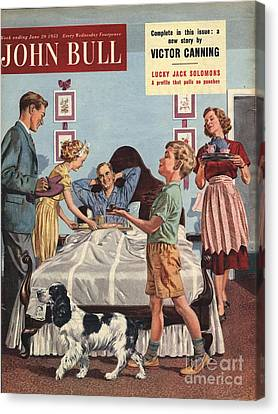 John Bull 1950s Uk Father�s Day Canvas Print by The Advertising Archives