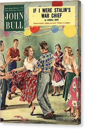 Magazine Canvas Print - John Bull 1950s Uk  Line Country Square by The Advertising Archives