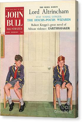 John Bull 1950s Uk Schools Magazines Canvas Print by The Advertising Archives
