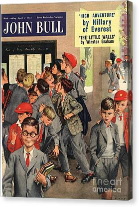 John Bull 1955 1950s Uk Schools Swots Canvas Print by The Advertising Archives