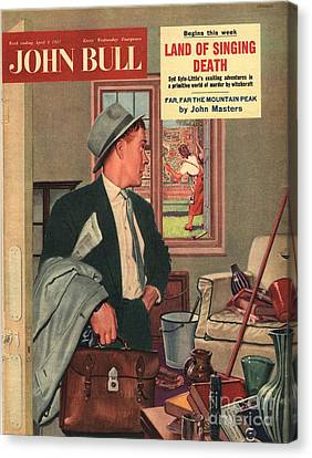 John Bull 1957 1950s Uk Cleaning Canvas Print by The Advertising Archives