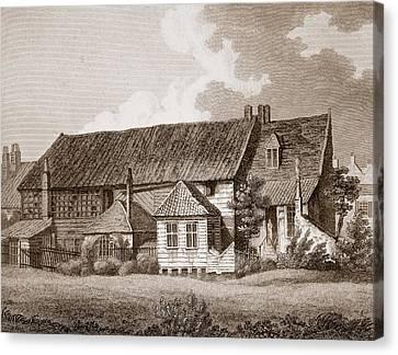 John Bunyans Meeting House, Early 19th Canvas Print by English School