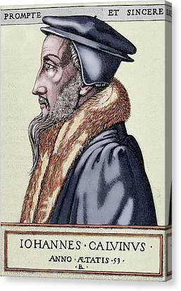 John Calvin (1509-1564 Canvas Print by Prisma Archivo