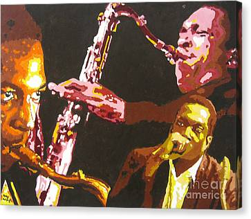 John Coltrane A Love Supreme Canvas Print by Ronald Young