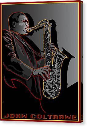 John Coltrane Jazz Saxophone Legend Canvas Print by Larry Butterworth