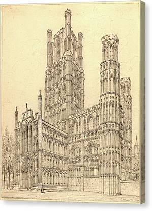 John Coney, British 1786-1833, Ely Cathedral Canvas Print by Litz Collection