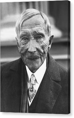 John D. Rockefeller At 88 Canvas Print