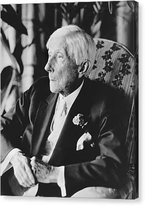 John D. Rockefeller At 96 Canvas Print