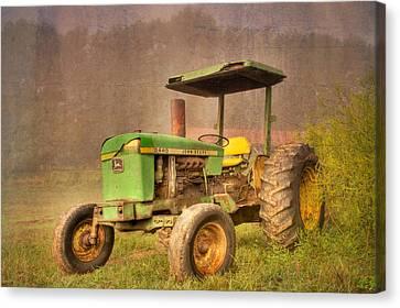 Tn Barn Canvas Print - John Deere 2440 by Debra and Dave Vanderlaan