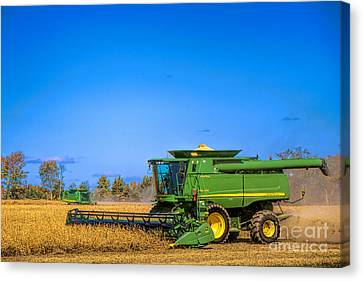 Canvas Print featuring the photograph John Deere 9770 by Olivier Le Queinec