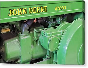 John Deere Diesel Canvas Print by Susan Candelario