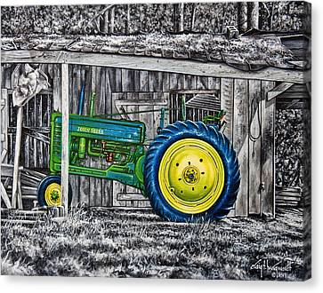 John Deere Green Canvas Print