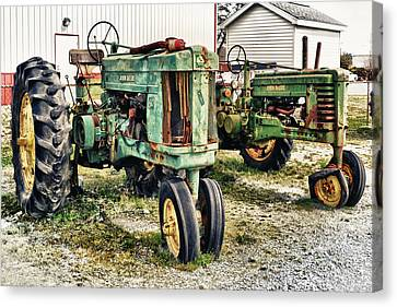 Canvas Print featuring the photograph John Deere Past by Kelly Reber