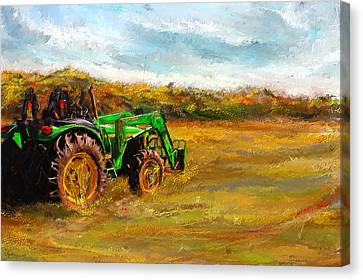 John Deere Tractor- John Deere Art Canvas Print by Lourry Legarde