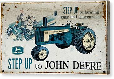 John Deere Tractor Sign Canvas Print by Paul Mashburn