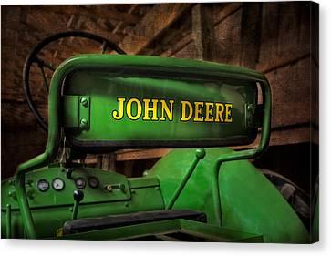 John Deere Tractor Canvas Print by Susan Candelario