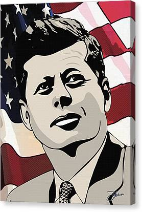 John F. Kennedy 1st Irish Catholic President  Canvas Print by Dancin Artworks