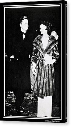 John F Kennedy And Jacqueline Attending First Dinner Canvas Print by Audreen Gieger-Hawkins
