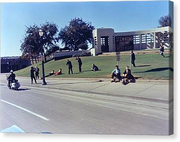 John F Kennedy Assassination In Dallas 1963 Canvas Print by Retro Images Archive