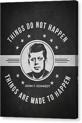 John F Kennedy - Dark Canvas Print by Aged Pixel