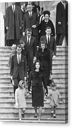 John F. Kennedy Funeral Canvas Print by Underwood Archives