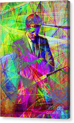 John Fitzgerald Kennedy Jfk In Abstract 20130610 Canvas Print by Wingsdomain Art and Photography