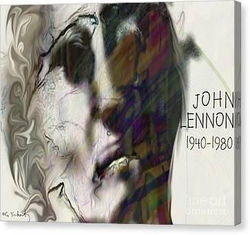 Canvas Print featuring the digital art John by Gabrielle Schertz
