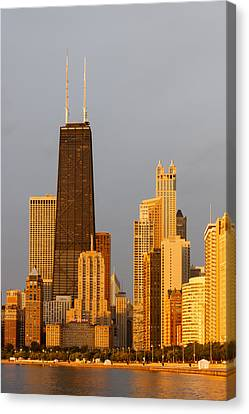 John Hancock Center Chicago Canvas Print by Adam Romanowicz