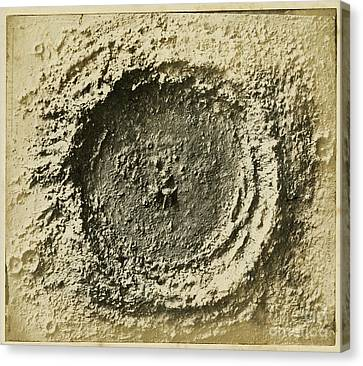 John Herschels Moon Crater C.1850s Canvas Print by Getty Research Institute