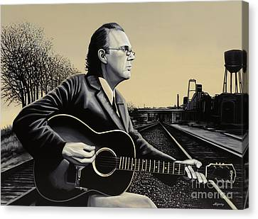 John Hiatt Painting Canvas Print
