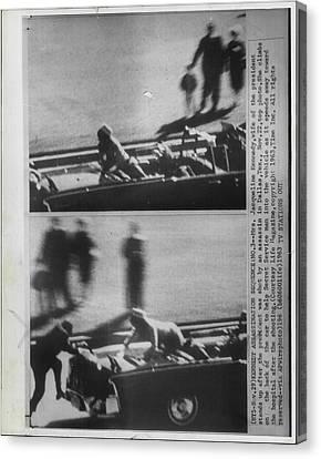 John Kennedy Dallas Assasintation Canvas Print by Retro Images Archive