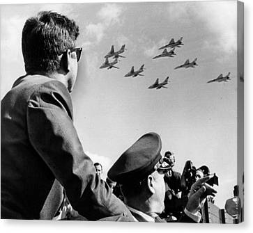 John Kennedy - Trip To Miami Week Before His Death. Nov 1963 Canvas Print by Retro Images Archive