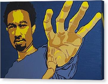 John Legend Canvas Print by Rachel Natalie Rawlins
