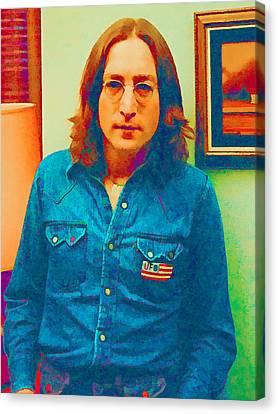 John Lennon 1975 Canvas Print by William Jobes