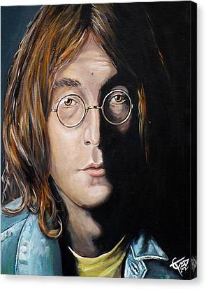 John Lennon 2 Canvas Print by Tom Carlton