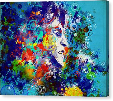 Paul Mccartney Canvas Print - John Lennon 3 by Bekim Art