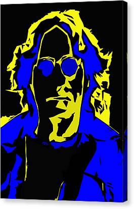 John Lennon Abstract  Canvas Print by Steve K
