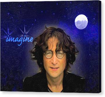John Lennon Canvas Print by Anthony Caruso
