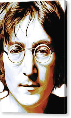 John Lennon Artwork Canvas Print by Sheraz A